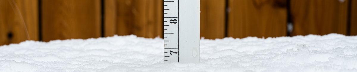 how to measure snowfall