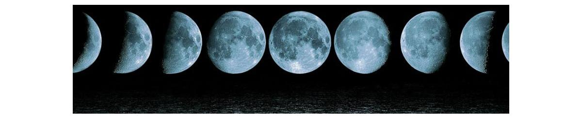 Time lapse image of moon phases