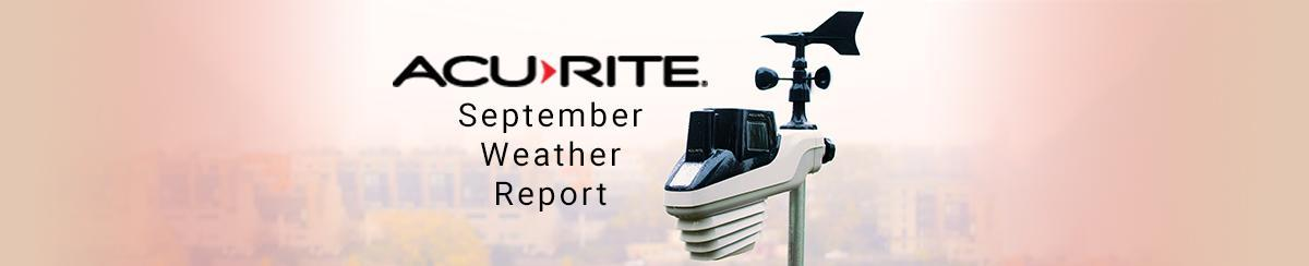 September 2021 Weather Recap   AcuRite Weather Data