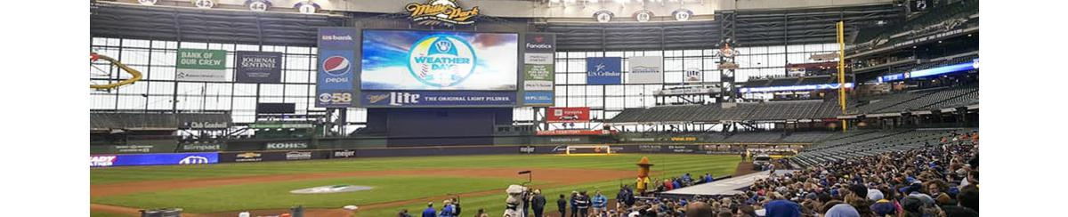 Weather Day on Miller Park Jumbotron