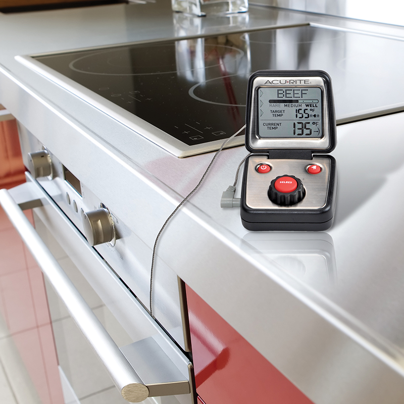 AcuRite Digital Meat Thermometer with Probe for Oven ...