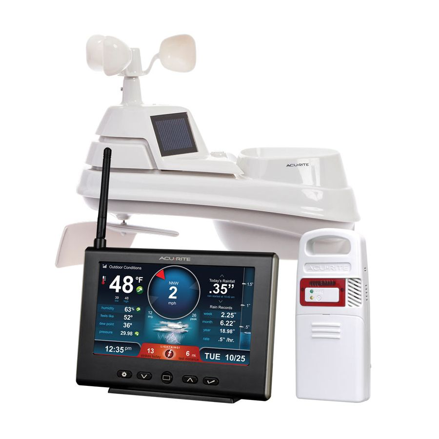 Pro+ 5-in-1 Weather Station with HD Display and Lightning Detector