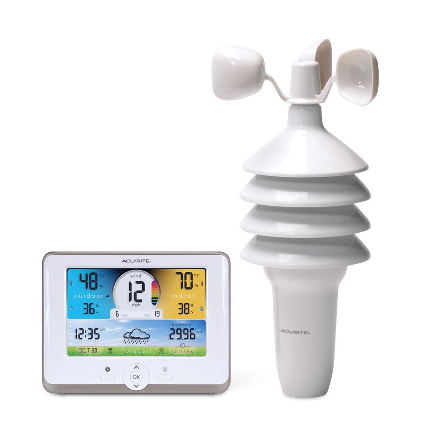 3-in-1 Weather Station with Wi-Fi Connection to Weather Underground