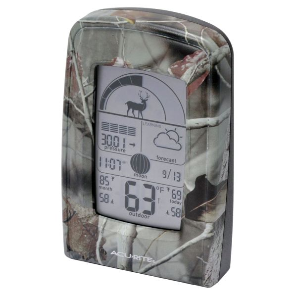 Hunting and Fishing Activity Meter with Weather Forecaster Display - AcuRite Weather Monitoring Devices