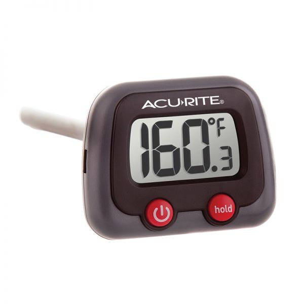 Angled view of the Instant Read Digital Meat Thermometer with Tilt Display - AcuRite Kitchen Gadgets