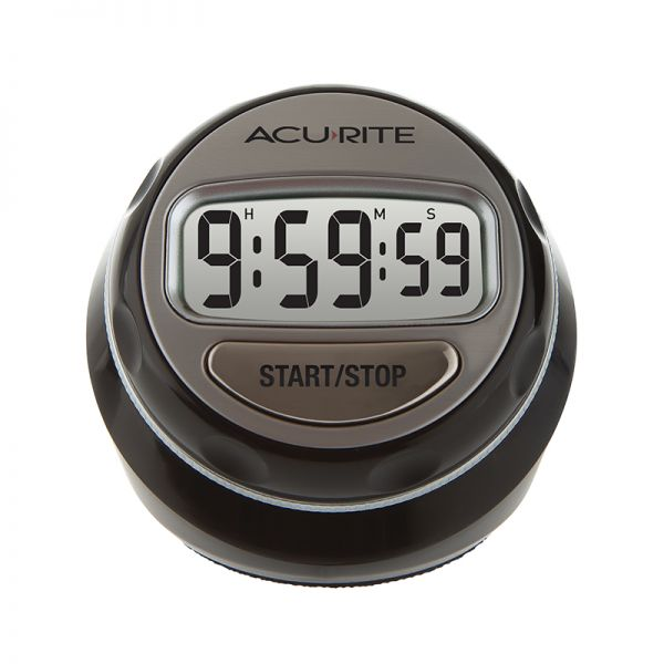 Stainless Steel Rotary Digital Timer - AcuRite Kitchen