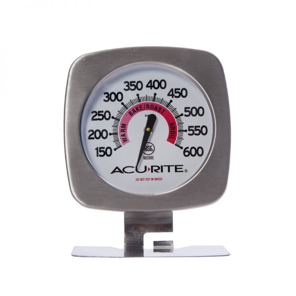 Brushed Stainless Steel Oven Thermometer - AcuRite Kitchen Gadgets