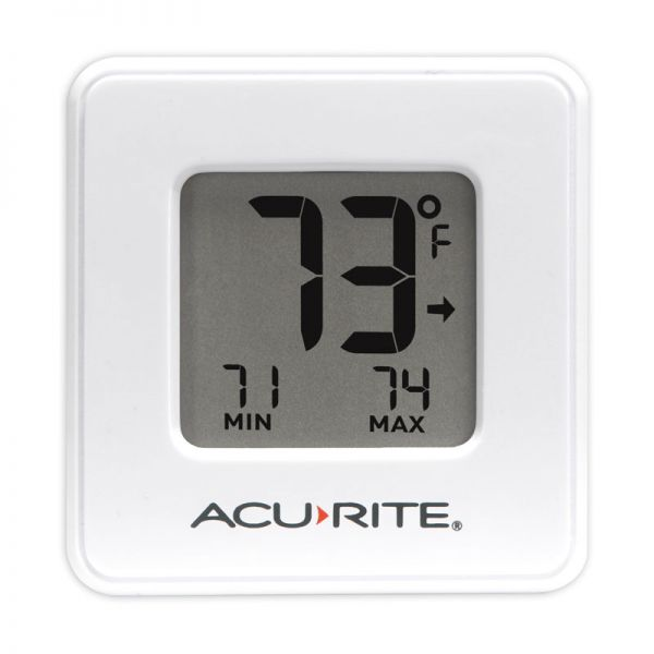 Compact Indoor Thermometer with High and Low Records (2 Color Options) - AcuRite Home Monitoring Devices