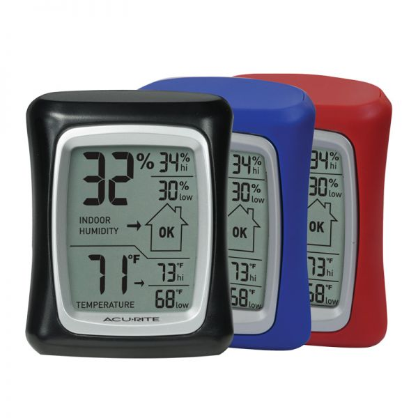 Indoor Temperature and Humidity Monitor (3 Color Options) - AcuRite Home Monitoring Devices