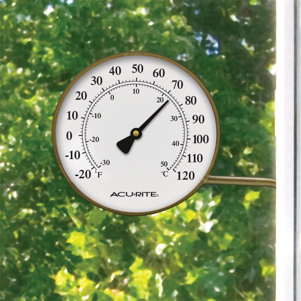 4 Inch Thermometer with Swivel Bracket mounted outside - AcuRite Thermometers