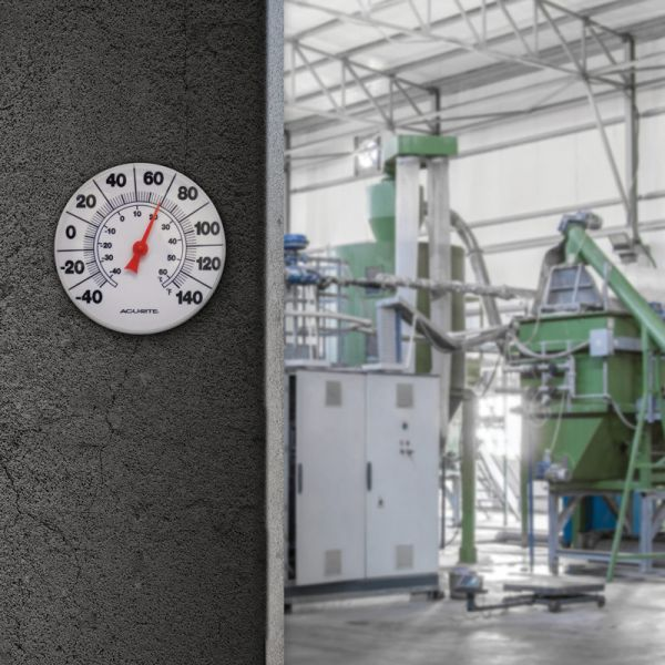 8-inch Thermometer in a factory - AcuRite Thermometer