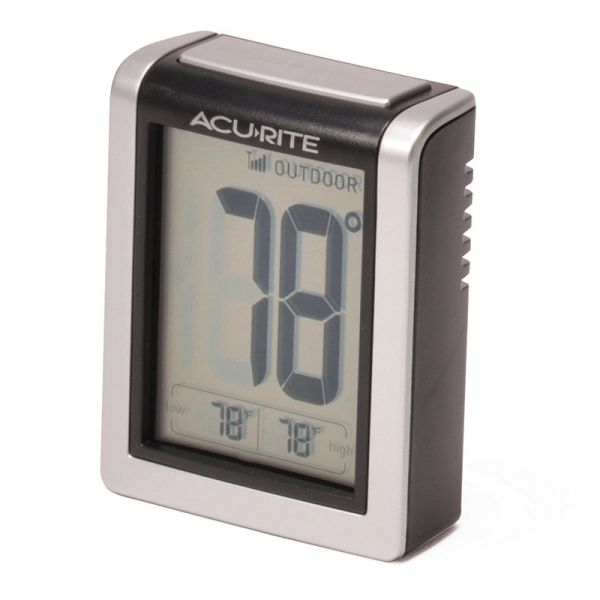 Angled view of the Indoor and Outdoor Temperature Monitor Display - Acurite Weather Monitoring Devices