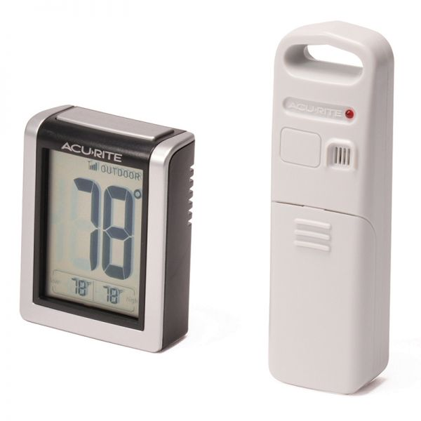 Angled view of the Indoor and Outdoor Temperature Monitor - Acurite Weather Monitoring Devices