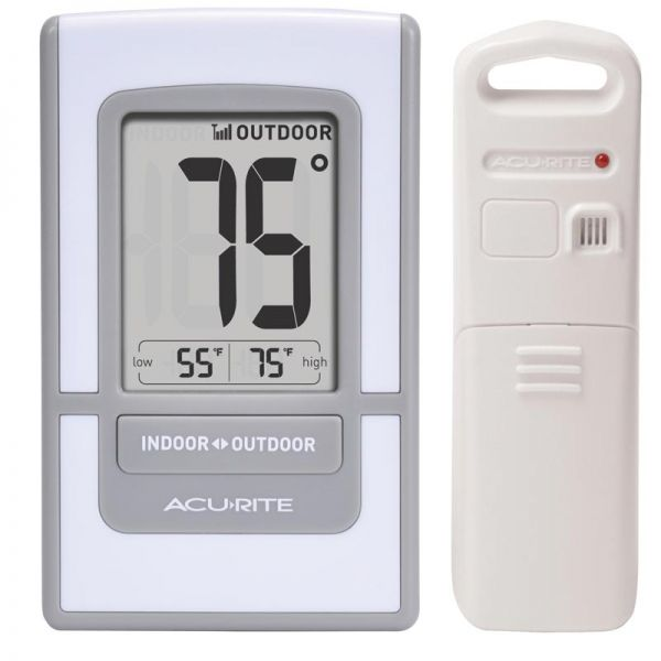 4.5-Inch Silver Digital Outdoor Thermometer - AcuRite Weather Monitoring Devices