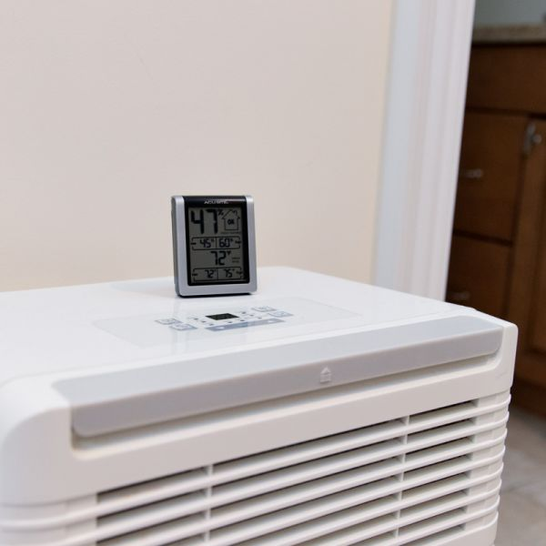 Indoor Temperature and Humidity Monitor on a dehumidifier - AcuRite  Home Monitoring Devices