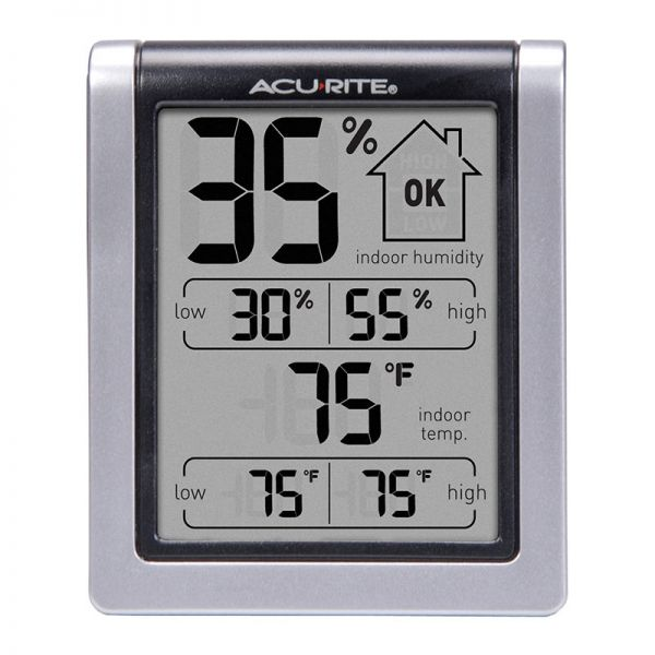 Front view of the Indoor Temperature and Humidity Monitor - AcuRite  Home Monitoring Devices