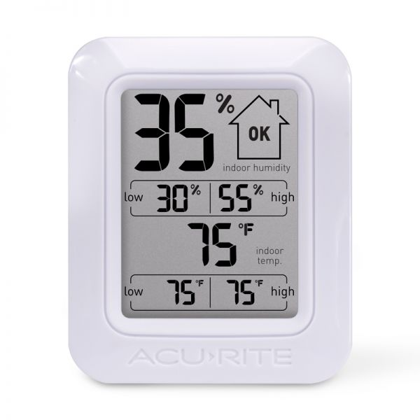 Digital Indoor Temperature and Humidity Monitor - AcuRite Home Monitoring Devices
