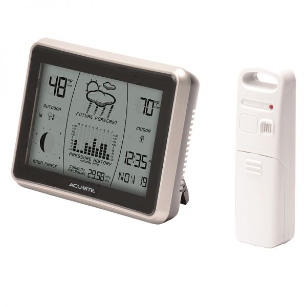 Angled view of the Wireless Weather Station with Forecast - AcuRite Weather Monitoring Devices