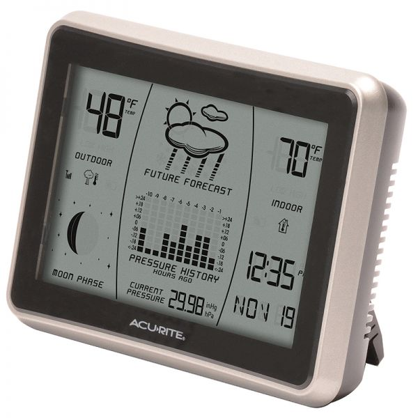 Angled view of the Wireless Weather Station with Forecast Display - AcuRite Weather Monitoring Devices