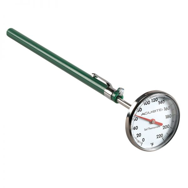 Stainless Steel Soil Thermometer - AcuRite Gardening