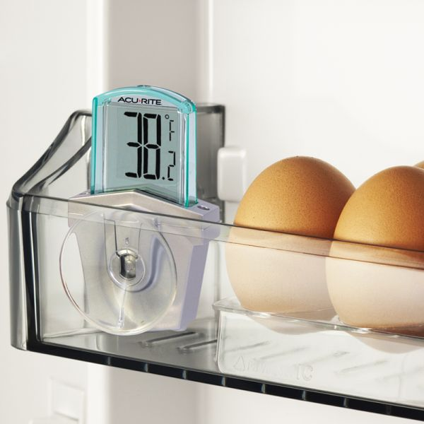 Digital Window Thermometer in a refrigerator - AcuRite Weather Monitoring Devices
