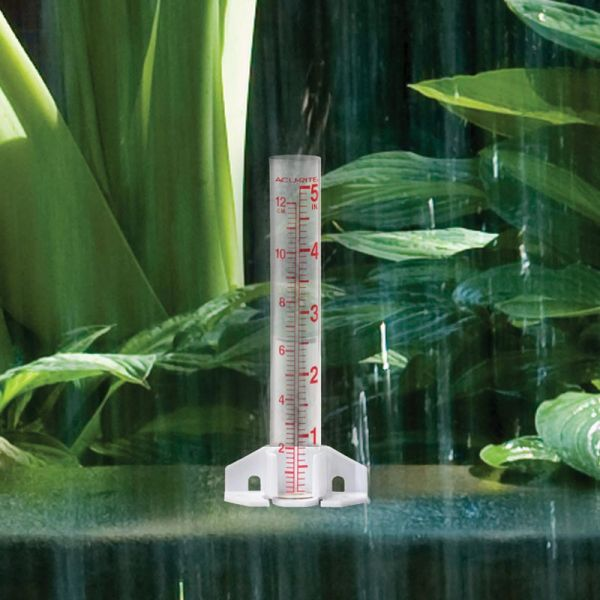 5-inch Capacity Glass Rain Gauge in the rain - AcuRite Weather Monitoring Devices