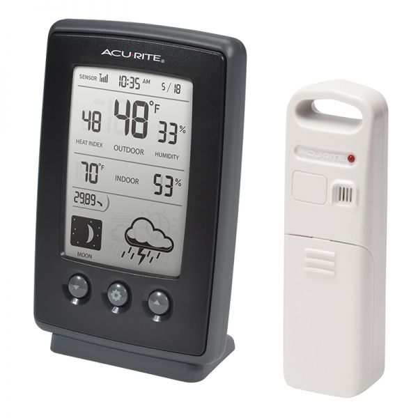 Angled view of the Digital Weather Station with Forecast - AcuRite Weather Monitoring Devices