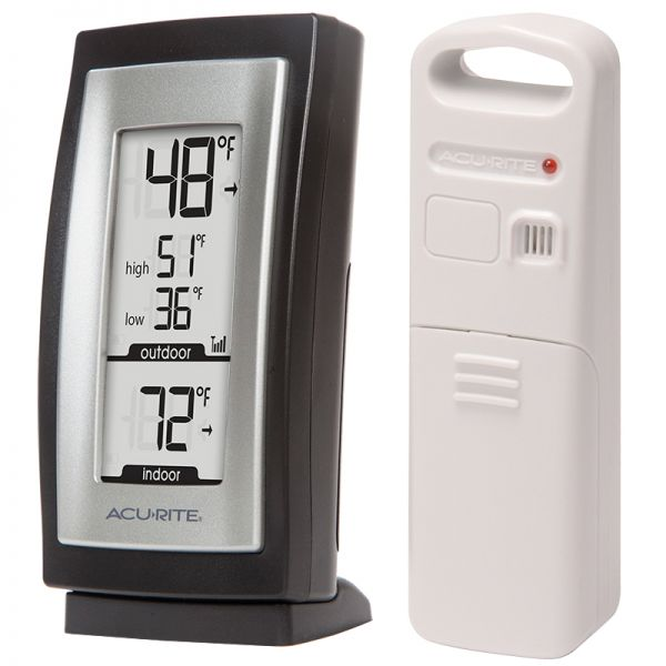 Angled view of the Digital Thermometer with Outdoor Temperature - AcuRite Weather Monitoring Devices