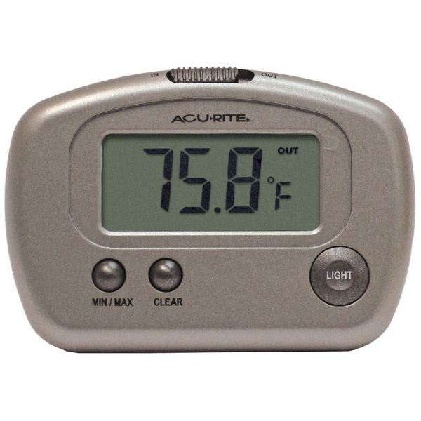 Digital Thermometer with 10-foot Temperature Sensor Probe - AcuRite Weather Monitoring Devices