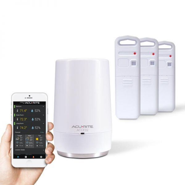 Arrangement of 3-Sensor Temperature and Humidity Smart Home Environment System with My AcuRite – AcuRite Weather Tracking