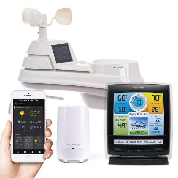 Close-Up of Pro+ 5-in-1 Weather Station with AcuRite Access for Remote Monitoring – AcuRite Weather Devices