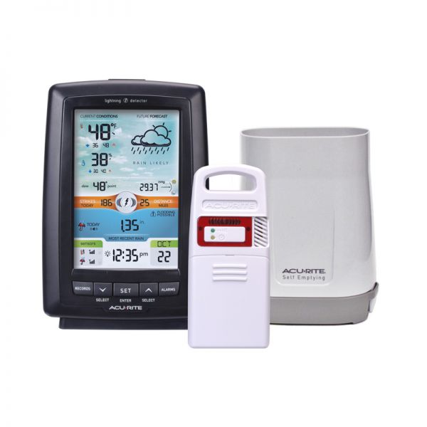 Weather Station with Rain Gauge and Lightning Detector – AcuRite Weather Monitoring