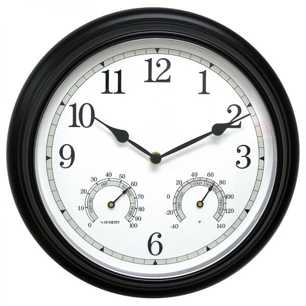 AcuRite 13-inch outdoor clock with temperature and humidity