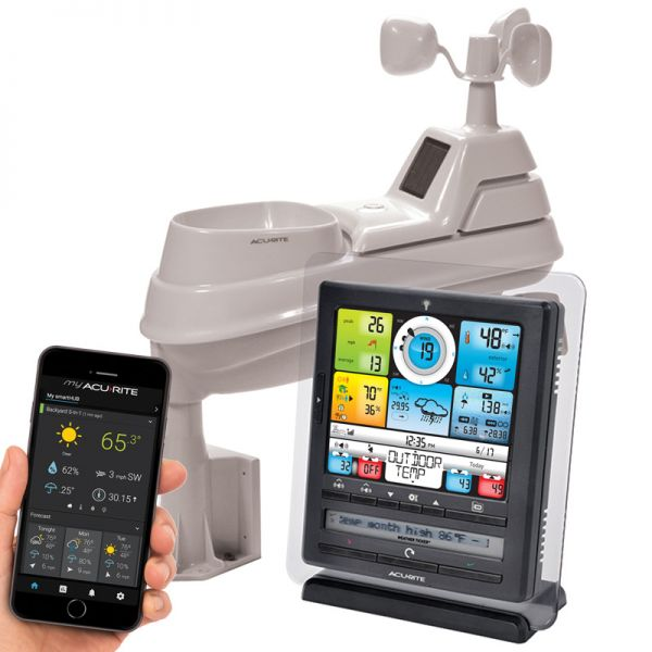 Close-Up of Weather System with 5-in-1 Sensor, PC Connect, Wind and Rain – AcuRite Weather Tools