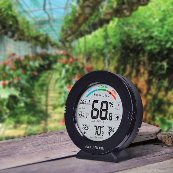 AcuRite Pro Accuracy Indoor Temperature and Humidity Monitor in a greenhouse - AcuRite Home Monitoring Devices