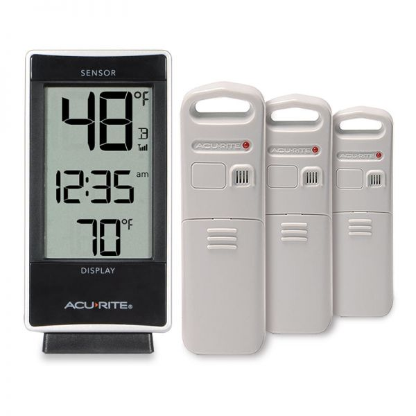 Multi-Sensor Thermometer with 3 Temperature Sensors - AcuRite Weather Monitoring Devices