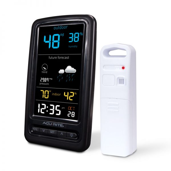 Angled view of the Digital Weather Station - Temperature & Humidity - AcuRite Weather Monitoring Devices