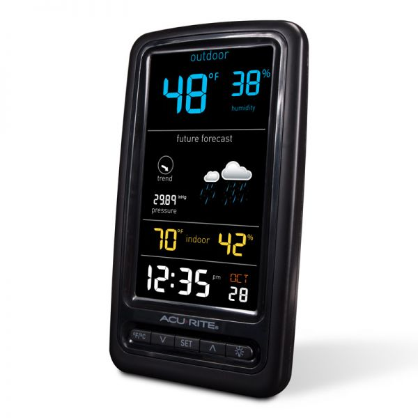 Angled view of the Digital Weather Station Display - AcuRite Weather Monitoring Devices