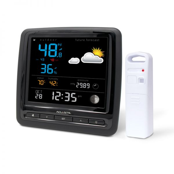 Angled view of the Home Weather Station with Large Display - AcuRite Weather Monitoring Devices
