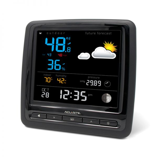 Angled view of the Home Weather Station Display - AcuRite Weather Monitoring Devices