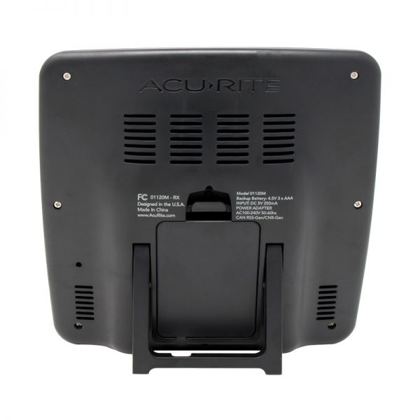 Back of the Home Weather Station Display - AcuRite Weather Monitoring Devices