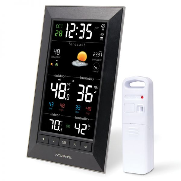 Angled view of the Weather Station with Indoor and Outdoor Monitoring - AcuRite Weather Monitoring Devices