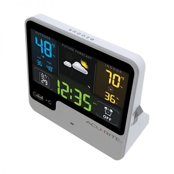 Top view of the Alarm Clock with Weather Forecast - AcuRite Clocks