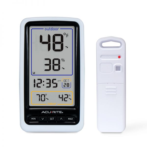 Wireless Digital Thermometer with Outdoor Temperature and Humidity - AcuRite Weather Monitoring Devices