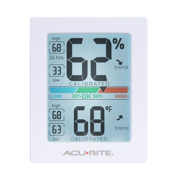 Front view of the AcuRite Pro Accuracy Indoor Temperature and Humidity Monitor - AcuRite Home Monitoring Devices