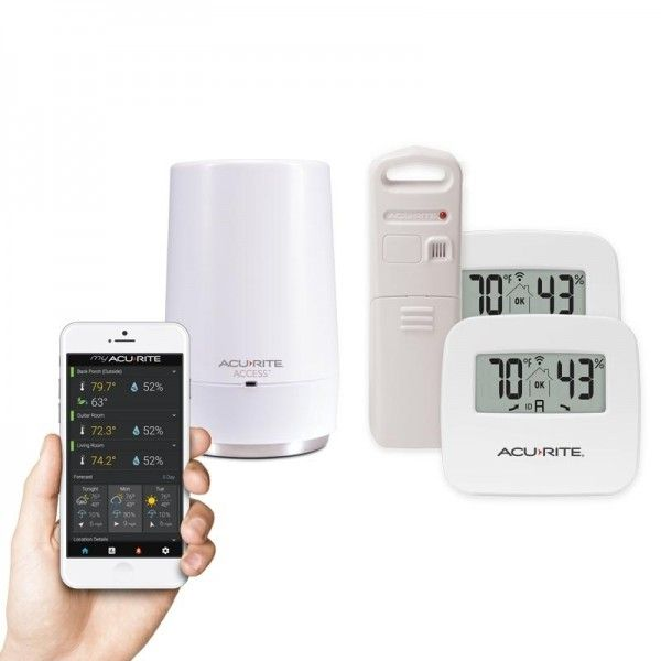 AcuRite Access 2-Sensor Indoor and 1-Sensor Outdoor Temperature & Humidity Smart Home Environment System with My AcuRite