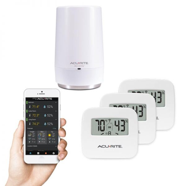 3-Sensor Indoor Temperature and Humidity Smart Home Environment System with My AcuRite - AcuRite Weather Monitoring Devices