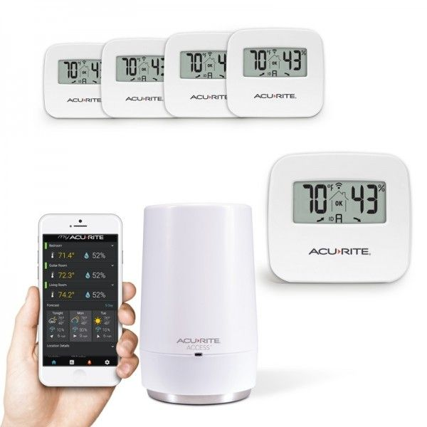 5-Sensor Indoor Humidity and Temperature Smart Home Environment System with My AcuRite - AcuRite Home Monitoring Devices