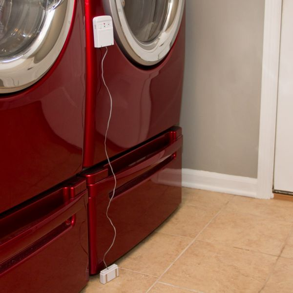 Water Leak Detector in a laundry room - AcuRite Home Monitoring Devices
