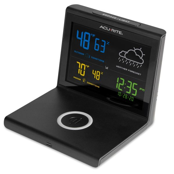 weather forecaster with wireless charger side image